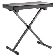 K&M Keyboard Bench - Black Leather 14065 (with bag 14068)