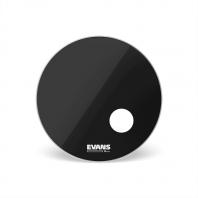 Evans EQ3 Resonant Black Bass Drumhead (w/ Offset Mic Port)