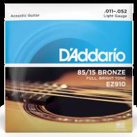 D' Addario Acoustic Guitar Strings Set Great American Bronze Light EZ910