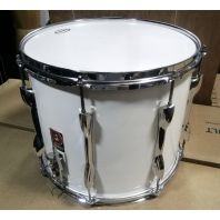 Used Premier Marching Snare Drum White
