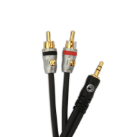 D'Addario Planet Waves Dual RCA to Stereo Mini Cable, 5 feet MP-05