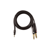 D'Addario Planet Waves Custom Series 1/8 inch to Dual 1/4 inch Audio Cable MPTS-06