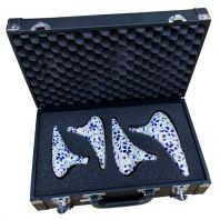 TNG Ocarina Set of 4 with case (Blue and  White) TNG-E01-4IN