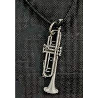 Trumpet Pewter Necklace FPN545PW