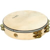 Tycoon Double Row Headed Wooden Tambourine With Brass Jingles TBWH-D BB
