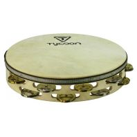 Tycoon Double Row Headed Wooden Tambourine With Mixed Jingles TBWH-D BM
